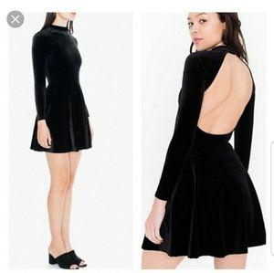 American Apparel Black Violette Velvet Dress